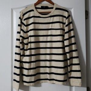 J. Crew Men's Striped Textured Cotton Sweater